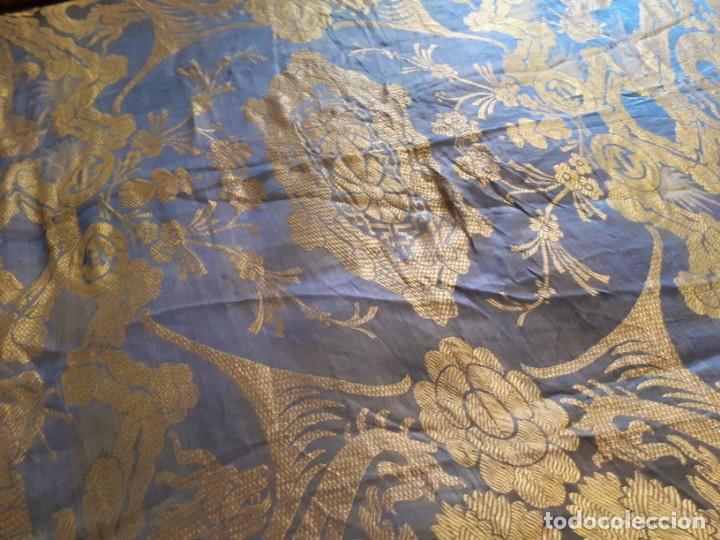 Antigüedades: Colcha antigua sedina chinesca. - Foto 10 - 165850110
