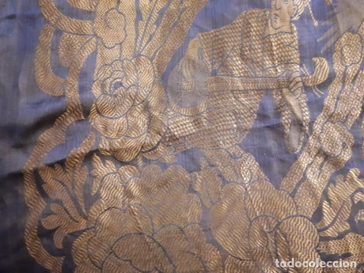 Antigüedades: Colcha antigua sedina chinesca. - Foto 14 - 165850110