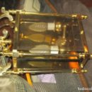 Antigüedades: OFERTA ANTIGUA LAMPARA FAROL BRONCE Y CRISTAL DE ROCA VISELADOS. Lote 165854982
