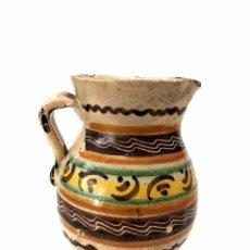 Antigüedades: JARRA DE PUENTE DEL ARZOBISPO - SERIE DE CIRCULOS CONCÉNTRICOS - S. XIX. Lote 165855902