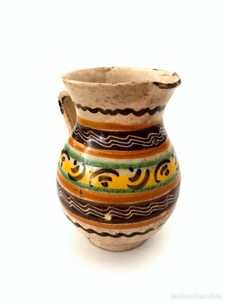 Antigüedades: JARRA DE PUENTE DEL ARZOBISPO - SERIE DE CIRCULOS CONCÉNTRICOS - S. XIX - Foto 2 - 165855902