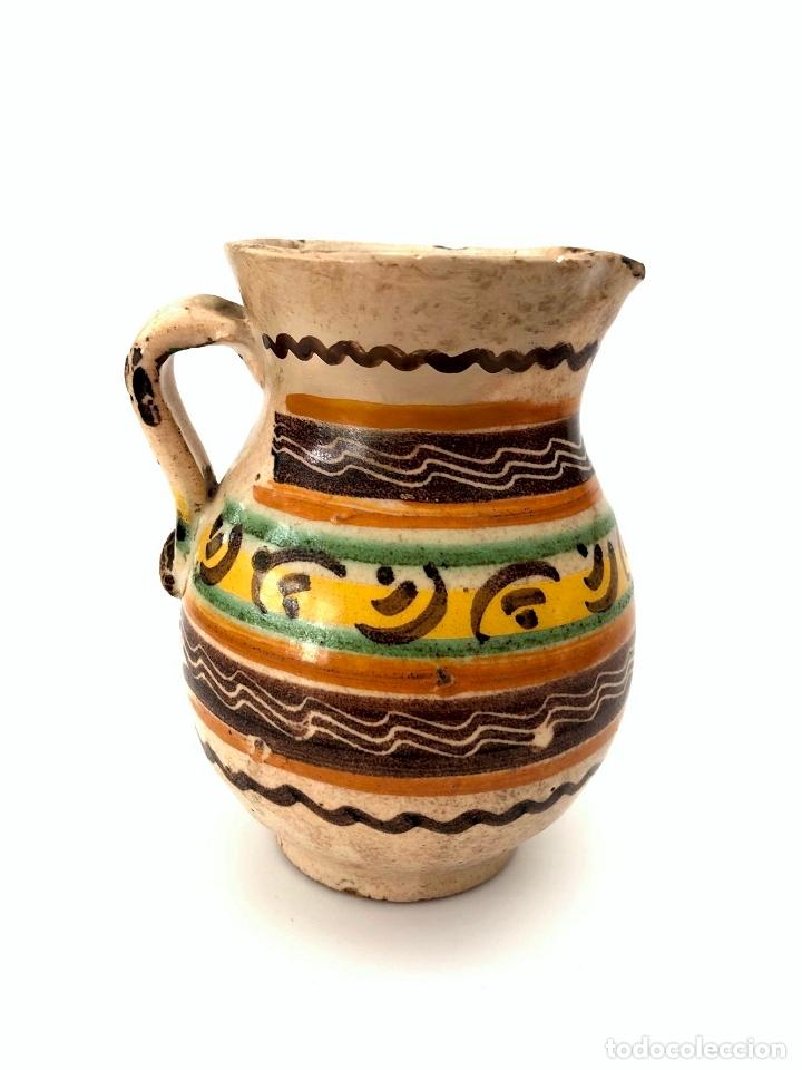 Antigüedades: JARRA DE PUENTE DEL ARZOBISPO - SERIE DE CIRCULOS CONCÉNTRICOS - S. XIX - Foto 3 - 165855902