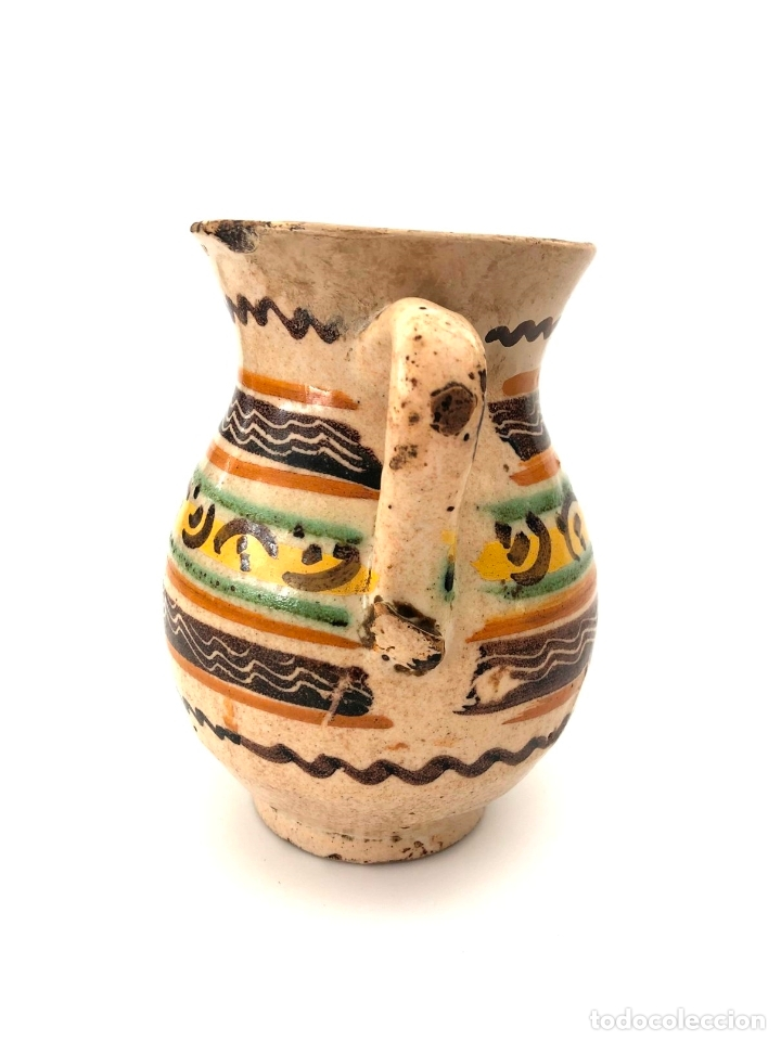 Antigüedades: JARRA DE PUENTE DEL ARZOBISPO - SERIE DE CIRCULOS CONCÉNTRICOS - S. XIX - Foto 4 - 165855902