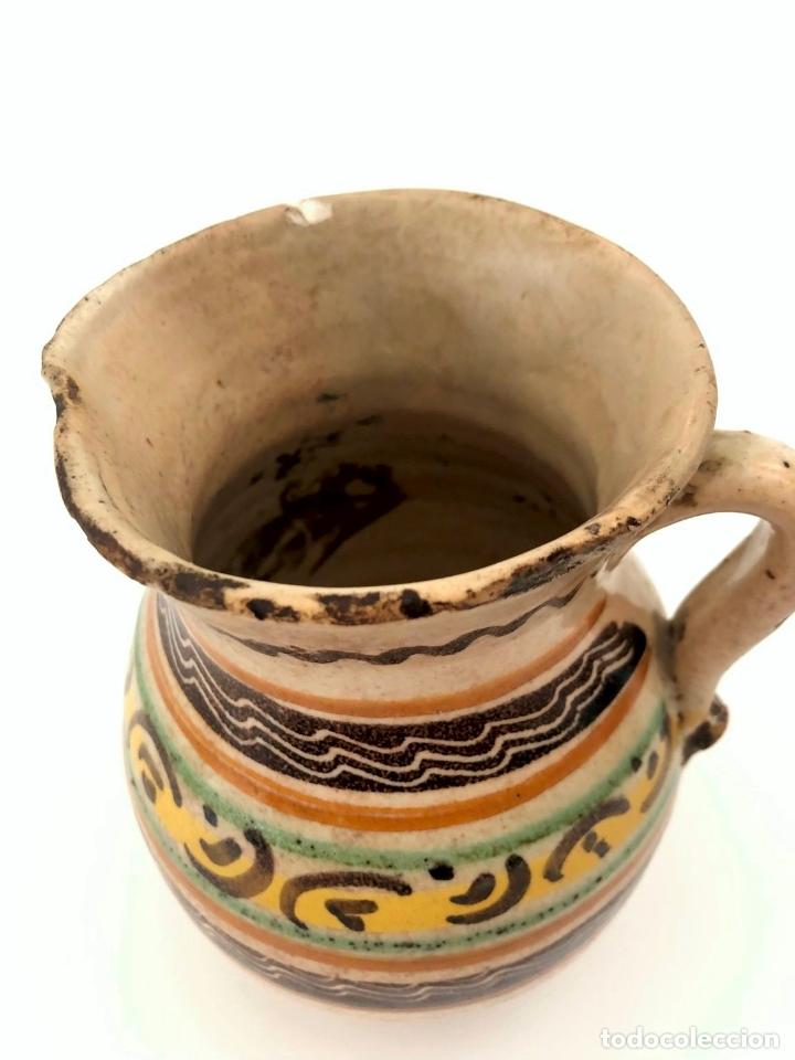 Antigüedades: JARRA DE PUENTE DEL ARZOBISPO - SERIE DE CIRCULOS CONCÉNTRICOS - S. XIX - Foto 5 - 165855902