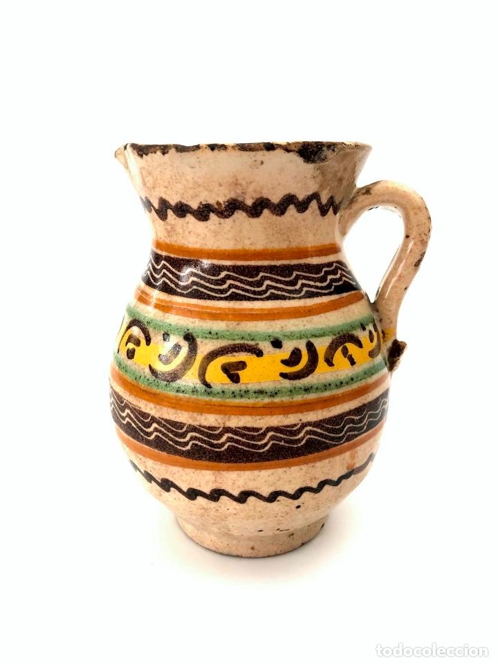 Antigüedades: JARRA DE PUENTE DEL ARZOBISPO - SERIE DE CIRCULOS CONCÉNTRICOS - S. XIX - Foto 6 - 165855902