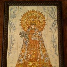 Antigüedades: CUADRO DE AZULEJOS. VIRGEN DE LOS DESAMPARADOS. CERAMICA DE MANISES J. BOIX. Lote 165861214