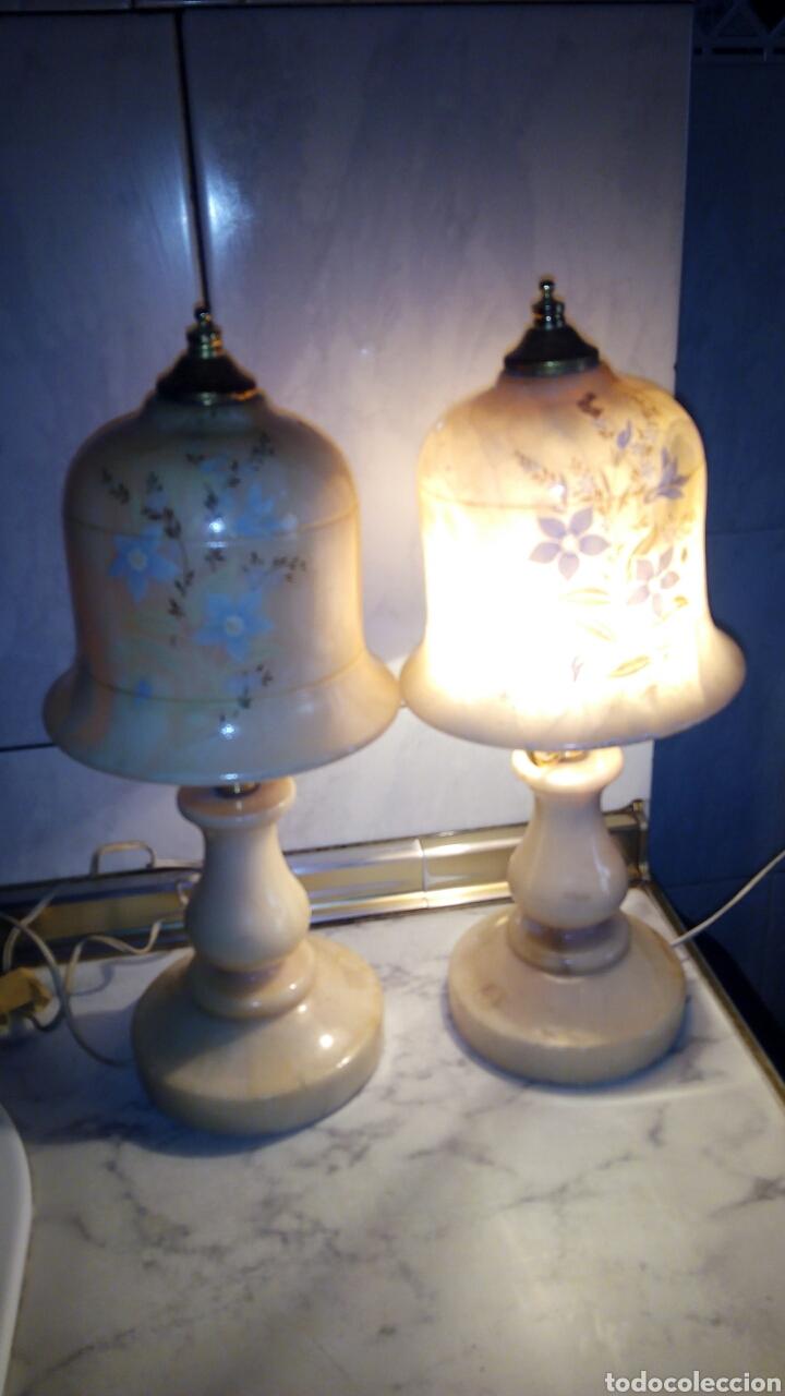 Antigüedades: (2)lamparas de Alabastro ,ver fotos - Foto 2 - 165882293