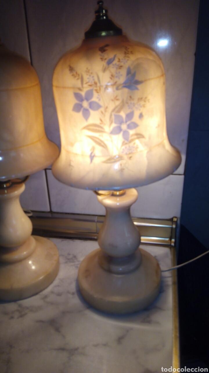 Antigüedades: (2)lamparas de Alabastro ,ver fotos - Foto 3 - 165882293