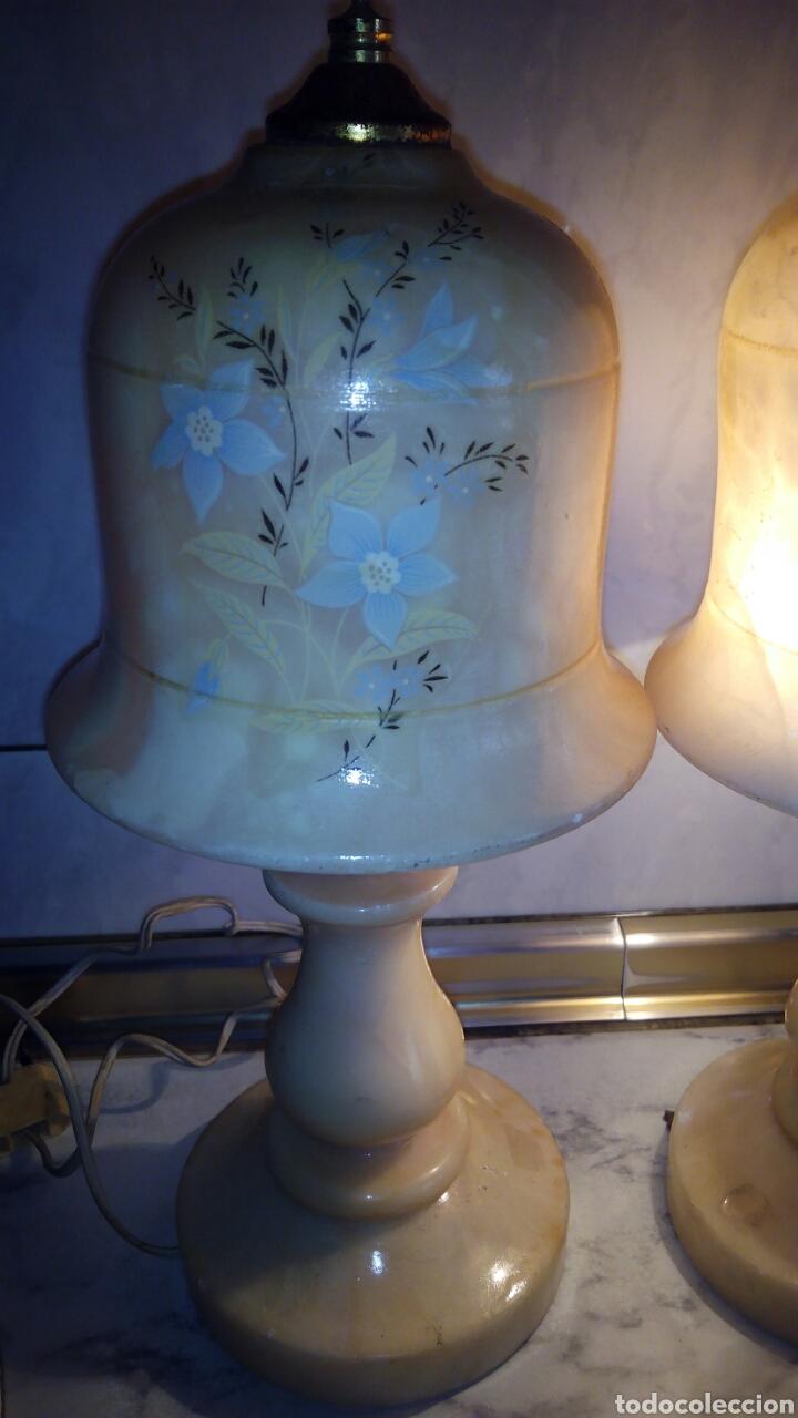 Antigüedades: (2)lamparas de Alabastro ,ver fotos - Foto 4 - 165882293