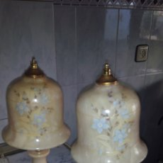 Antigüedades: (2)LAMPARAS DE ALABASTRO ,VER FOTOS. Lote 165882293
