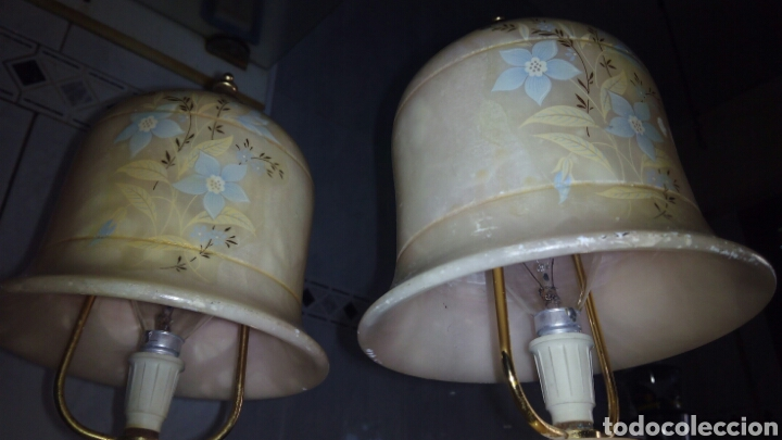Antigüedades: (2)lamparas de Alabastro ,ver fotos - Foto 8 - 165882293
