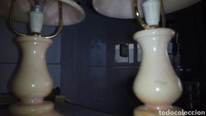 Antigüedades: (2)lamparas de Alabastro ,ver fotos - Foto 9 - 165882293