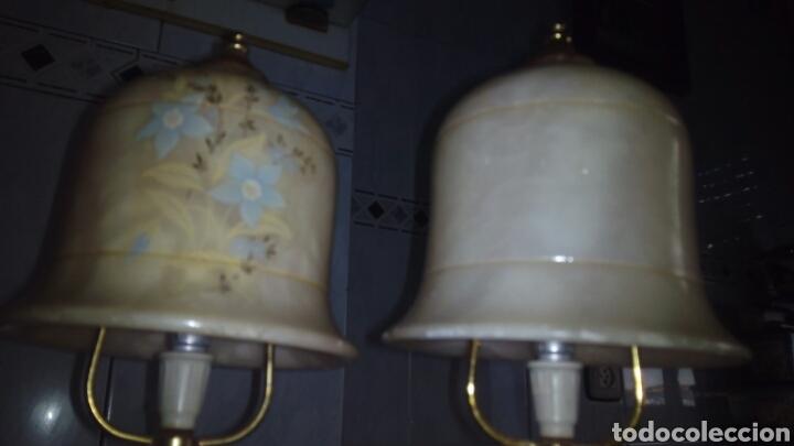 Antigüedades: (2)lamparas de Alabastro ,ver fotos - Foto 15 - 165882293