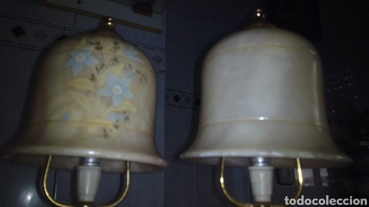 Antigüedades: (2)lamparas de Alabastro ,ver fotos - Foto 16 - 165882293