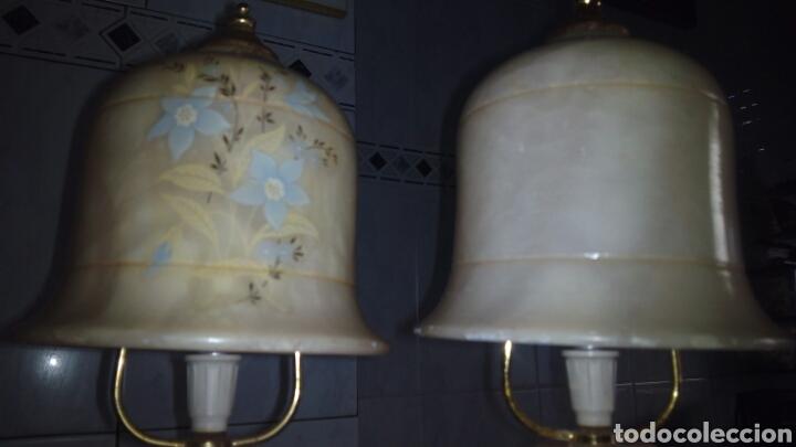 Antigüedades: (2)lamparas de Alabastro ,ver fotos - Foto 17 - 165882293