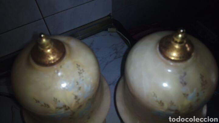 Antigüedades: (2)lamparas de Alabastro ,ver fotos - Foto 18 - 165882293