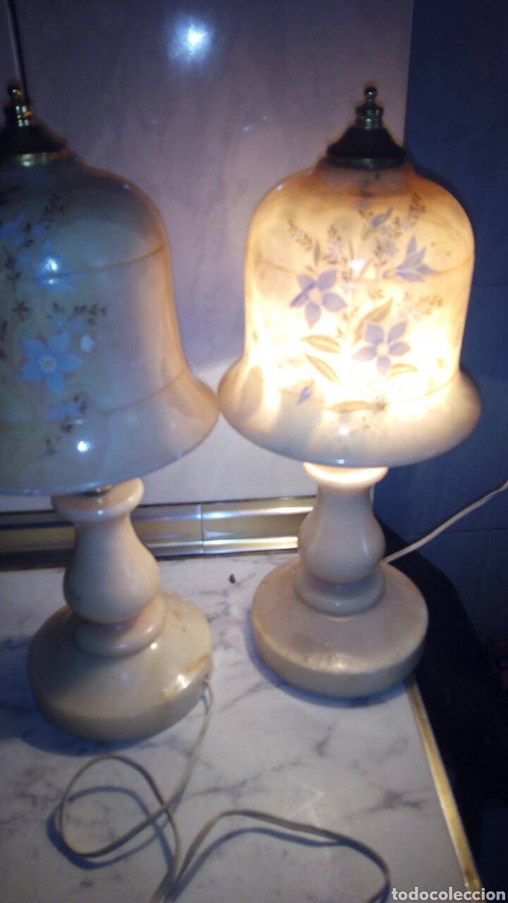 Antigüedades: (2)lamparas de Alabastro ,ver fotos - Foto 19 - 165882293