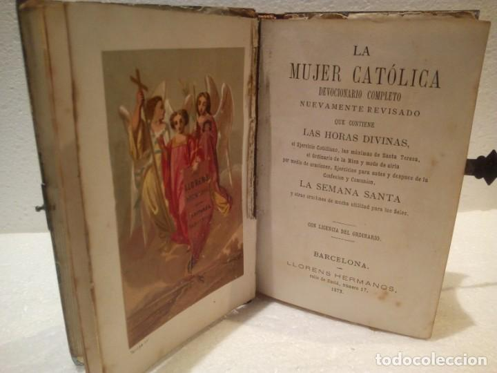 Antigüedades: Misal en nácar con cierre en plata año 1873 - Foto 4 - 165886506