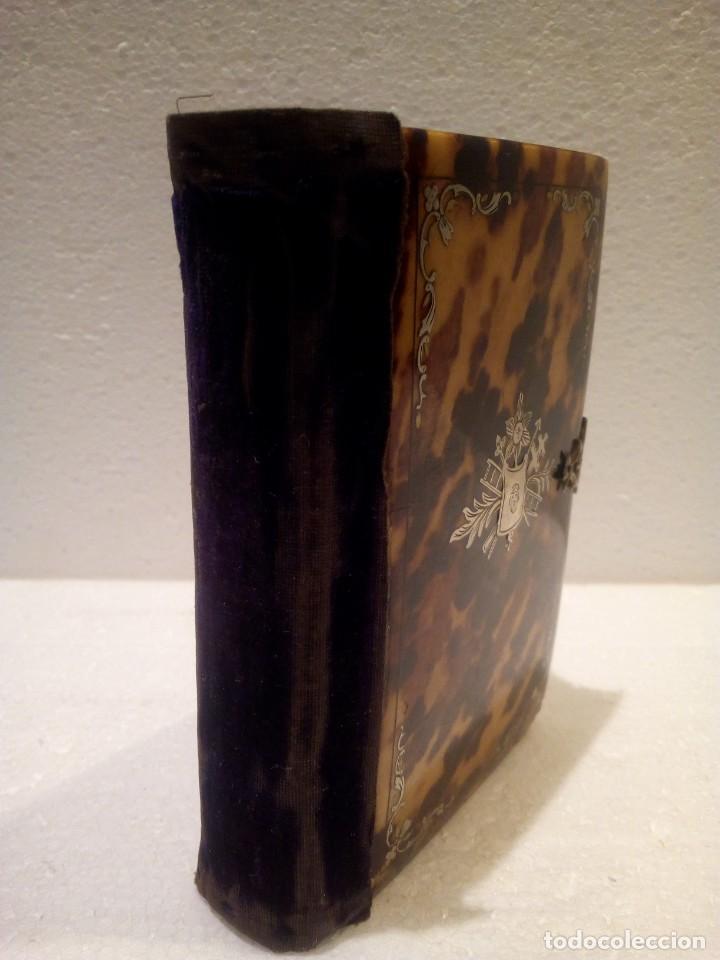 Antigüedades: Misal en carey con aplicaciones en plata finales de.XIX - Foto 6 - 165890570