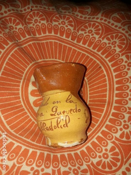 Antigüedades: Lote jarrita barro arcilla para vino. - Foto 6 - 165890946