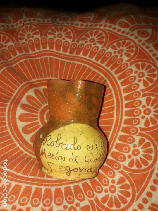 Antigüedades: Lote jarrita barro arcilla para vino. - Foto 9 - 165890946