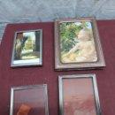 Antigüedades: LOTE 4 MARCOS PORTAFOTOS METALICOS ... AÑOS 70. Lote 165894110