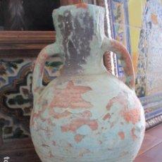 Antigüedades: MUY ANTIGUO JARRON CERAMICA TRAIGUERA 100 AÑOS. Lote 165900046