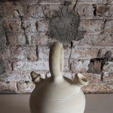 Antigüedades: CÁNTARO CANTIR BOTIJO EN BARRO BLANCO. Lote 165904609