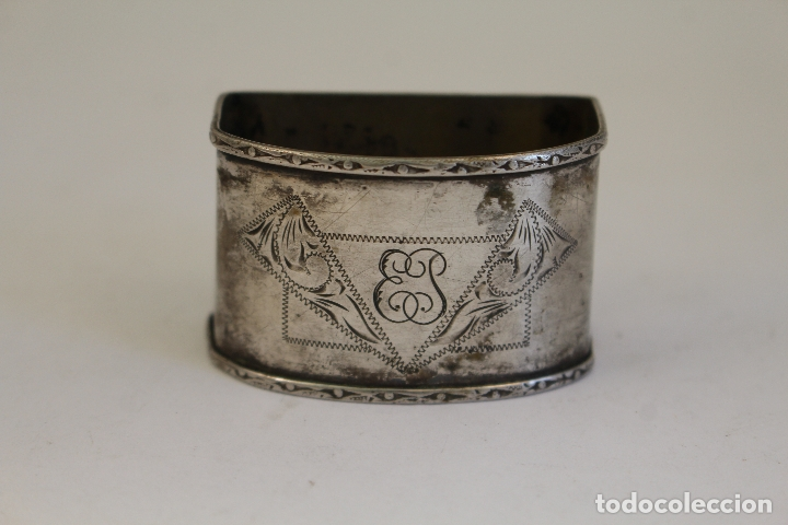 Antigüedades: servilletero en plata maciza de ley 925milesimas - Foto 3 - 176039925