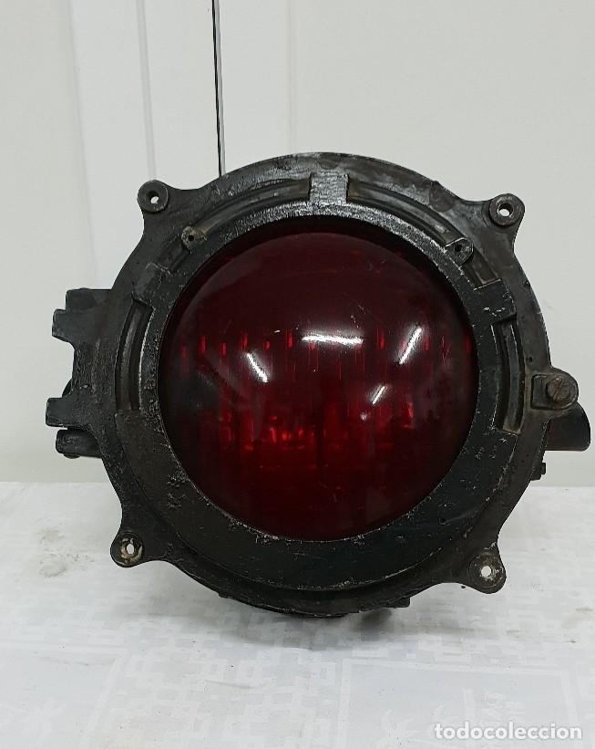 SEMÁFORO FERROVIARIO FRANCES (Antigüedades - Iluminación - Otros)