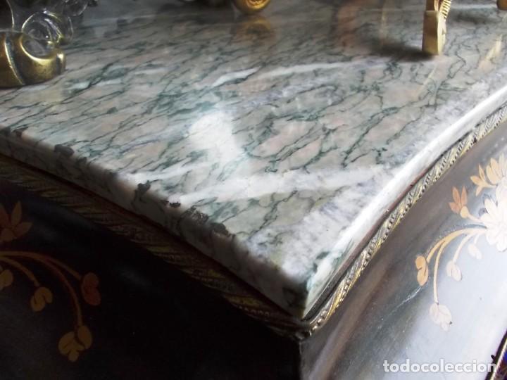 Antigüedades: Antiguo secreter sifonier frances con magnifica marqueteria y detalles bronce - Foto 8 - 165948094