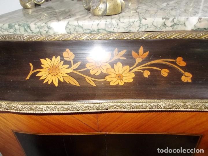 Antigüedades: Antiguo secreter sifonier frances con magnifica marqueteria y detalles bronce - Foto 10 - 165948094