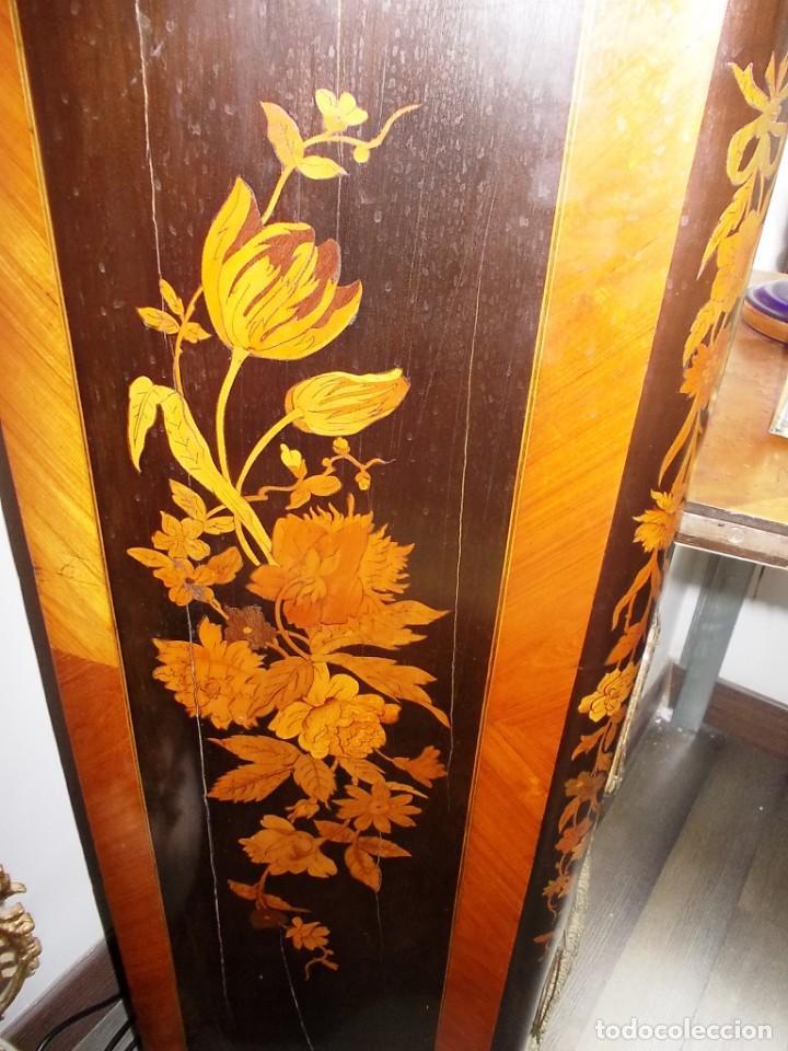 Antigüedades: Antiguo secreter sifonier frances con magnifica marqueteria y detalles bronce - Foto 11 - 165948094