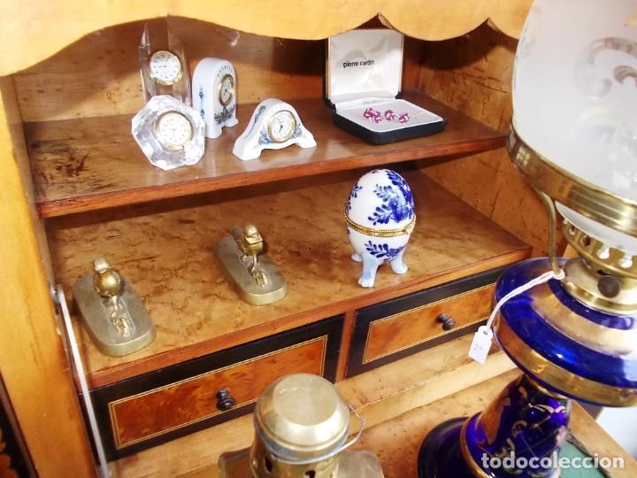Antigüedades: Antiguo secreter sifonier frances con magnifica marqueteria y detalles bronce - Foto 12 - 165948094