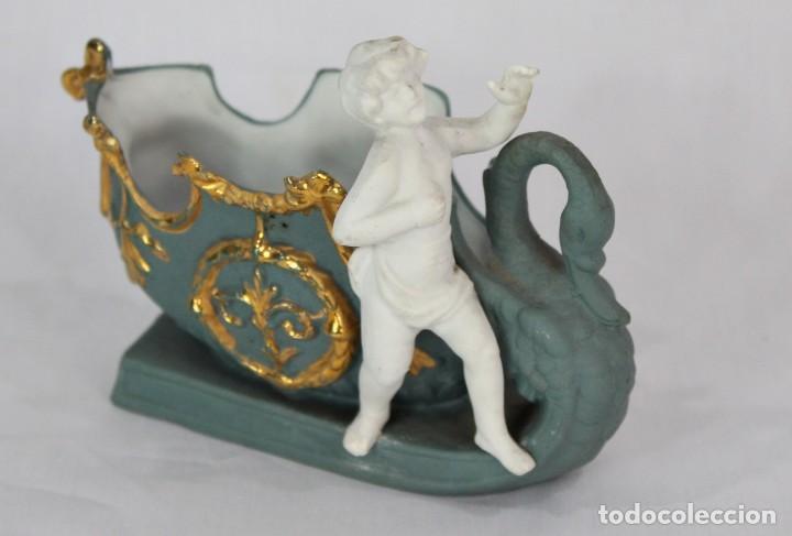 BISCUIT VIOLETERO FINES S XIX ALEMANIA (Antigüedades - Porcelana y Cerámica - Alemana - Meissen)