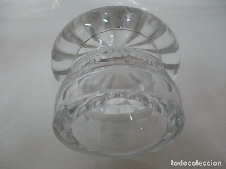 Antigüedades: Bonito Bote, Frasco - Cristal Tallado - Cuello de Plata de Ley, con Contrastes - Años 50 - Foto 7 - 165964742