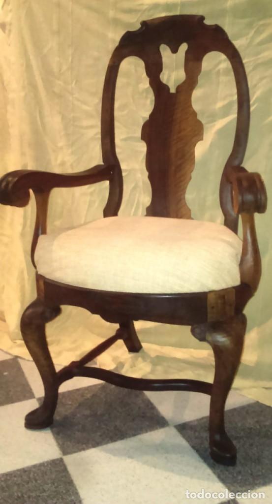 SIILON DE MADERA DE NOGAL (Antigüedades - Muebles Antiguos - Sillones Antiguos)