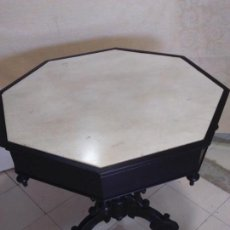 Antigüedades: MESA VELADOR OCTOGONAL. Lote 165973690