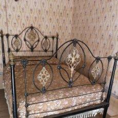 Antiguidades: CAMA DE FORJA ANTIGUA. Lote 166020690