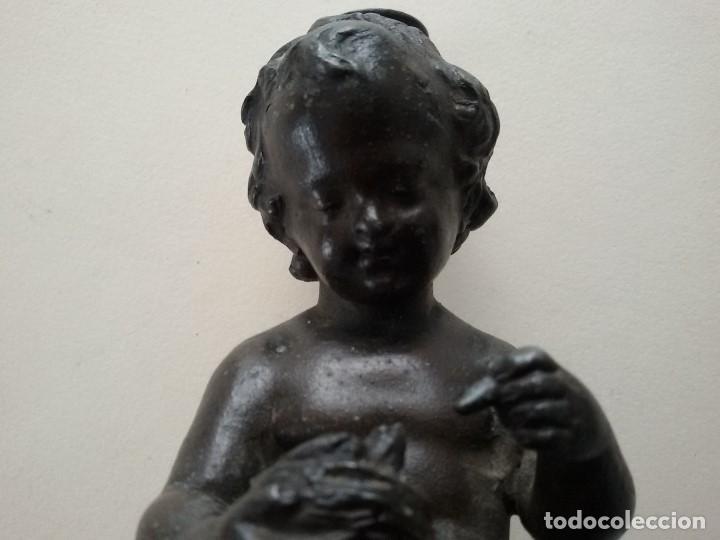 Antigüedades: FIGURA EN BRONCE EPOCA NAPOLEON III 1870 - Foto 4 - 166029378