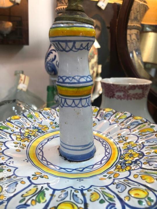Antigüedades: PRECIOSO FRUTERO CERAMICA TALAVERA DE TRES PISOS - - Foto 3 - 166034758