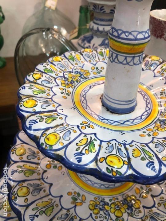 Antigüedades: PRECIOSO FRUTERO CERAMICA TALAVERA DE TRES PISOS - - Foto 4 - 166034758