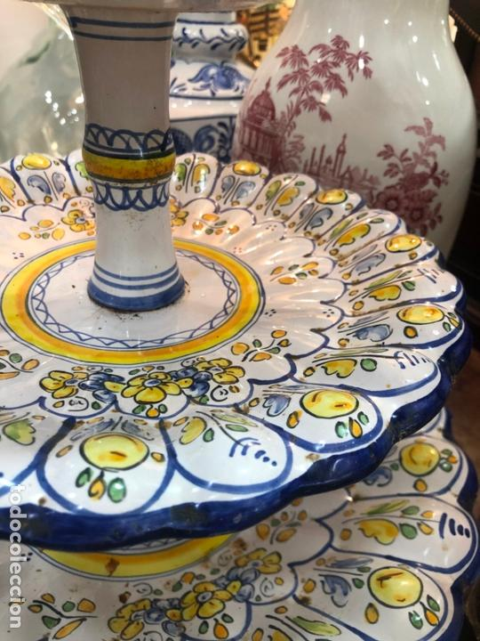 Antigüedades: PRECIOSO FRUTERO CERAMICA TALAVERA DE TRES PISOS - - Foto 6 - 166034758