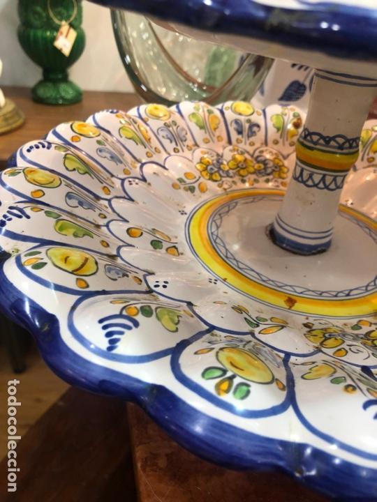 Antigüedades: PRECIOSO FRUTERO CERAMICA TALAVERA DE TRES PISOS - - Foto 7 - 166034758