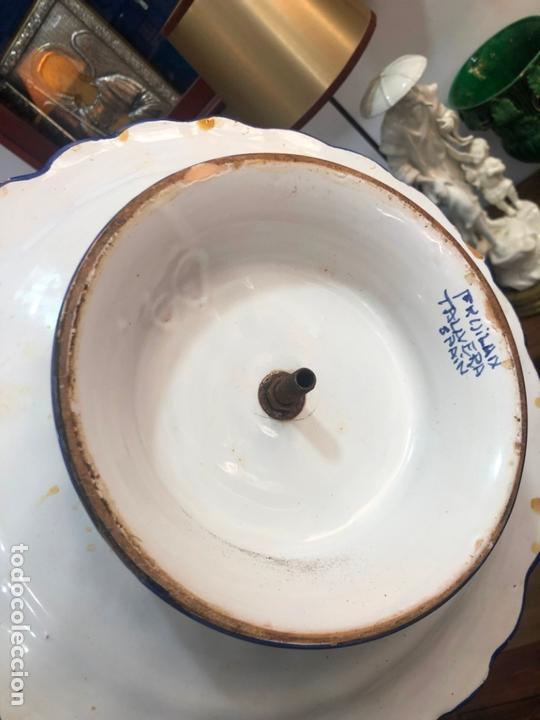 Antigüedades: PRECIOSO FRUTERO CERAMICA TALAVERA DE TRES PISOS - - Foto 11 - 166034758