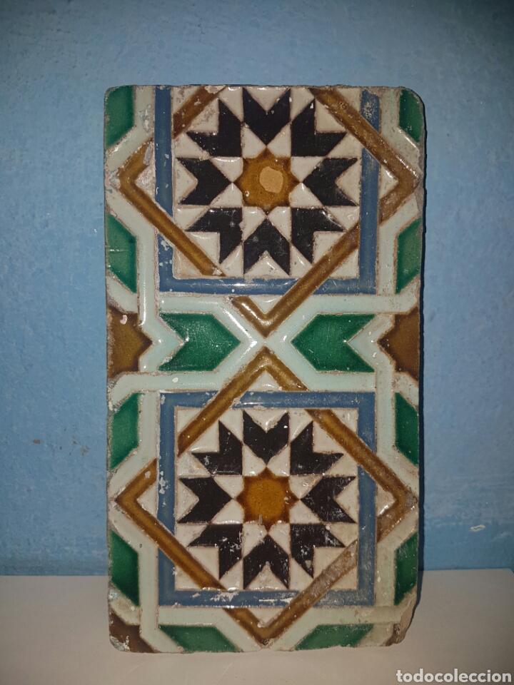 ANTIGUO AZULEJO FABRICADO POR RAMOS REJANO S.XIX TRIANA (Antigüedades - Porcelanas y Cerámicas - Triana)