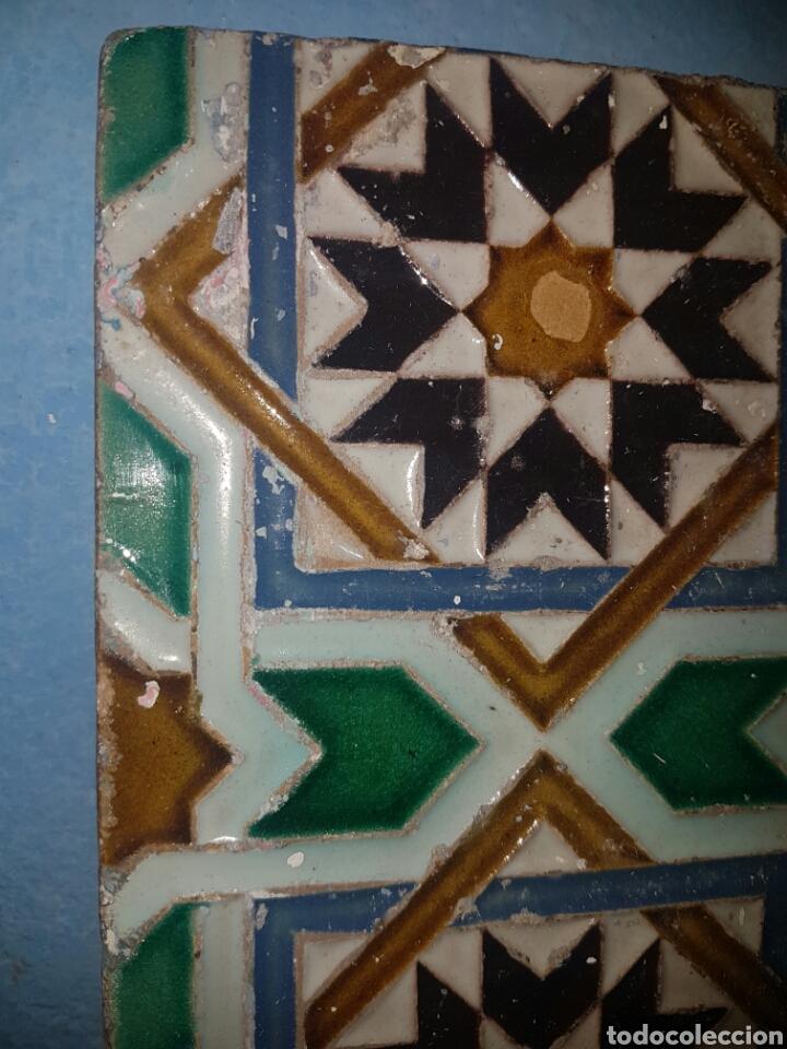 Antigüedades: ANTIGUO AZULEJO FABRICADO POR RAMOS REJANO S.XIX TRIANA - Foto 2 - 166060394