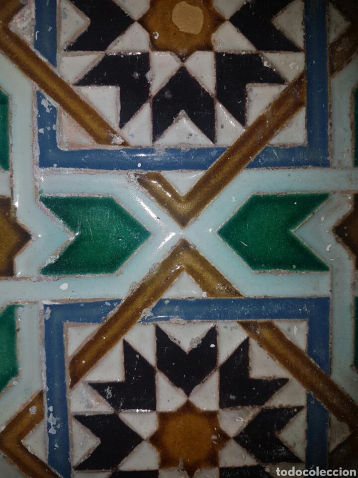 Antigüedades: ANTIGUO AZULEJO FABRICADO POR RAMOS REJANO S.XIX TRIANA - Foto 3 - 166060394