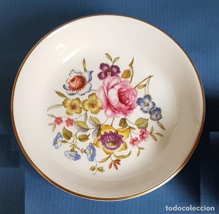 Antigüedades: Platito de porcelana inglesa de Royal Worcester - Foto 2 - 166065058