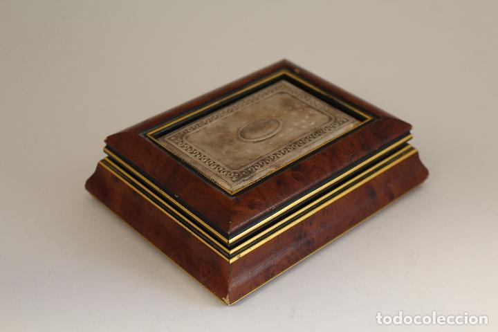 Antigüedades: caja joyero en plata de ley 925milesimas - Foto 2 - 174207517